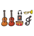 Various musical instruments vector image vector image