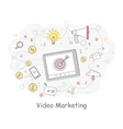 Video Marketing Banner vector image vector image