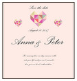wedding invitation with poem vector image vector image