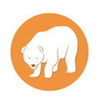 White bear symbol vector image vector image