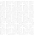 white cross seamless pattern with stone effect vector image