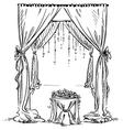 wedding arch vector image