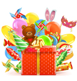 Celebration Concept with Gift vector image