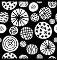 big polka dot sketch pattern vector image