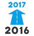 2017 Future Road Flat Icon vector image vector image