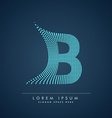 abstract creative dots logo letter B vector image