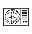 air conditioner isolated icon vector image vector image