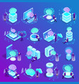 artificial intelligence isometric icons vector image vector image