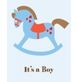 baby shower horse boy vector image