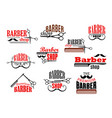 Barber shop beards and mustaches icons