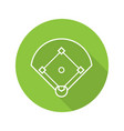 baseball field flat linear long shadow icon vector image
