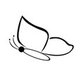 black butterfly on a white background vector image vector image