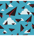 black paper plane fly vector image