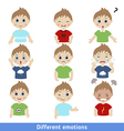 Boy faces vector image