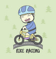 boy use safety riding for ride bike vector image vector image