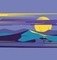 bright moonrise over desert sand dunes vector image vector image