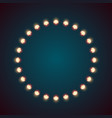 bulb fire circle on the dark vector image vector image