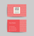 business card art deco design template 08 vector image vector image