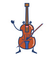 cello musical instrument kawaii character vector image vector image