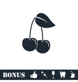 Cherry icon flat vector image vector image