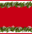 Christmas Border with Beads vector image vector image
