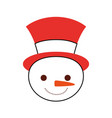 christmas snowman cartoon smile character winter vector image vector image