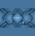 classic blue background with 3d style rectangle vector image vector image