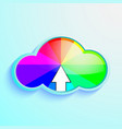 cloud download icon of rainbow vector image