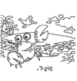 Crab Coloring Pages vector image vector image