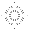Crosshair icon in outline style vector image vector image