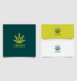 crown cannabis marijuana leaf logo vector image