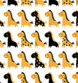 Cute funny seamless pattern with horses background vector image vector image