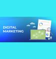 digital marketing business flat banner vector image vector image