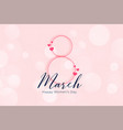 elegant happy womens day march 8th banner vector image