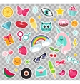 Fashion set of patches 80s comic style Pins vector image vector image
