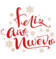 feliz ano nuevo text translation from spanish vector image vector image