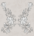Freehand drawing of lotus in east style vector image vector image