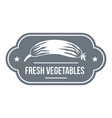 fresh vegetables logo simple style vector image