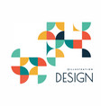 Geometric design with shapes in style of