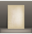grunge paper card vector image vector image
