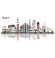 italy city skyline with gray buildings and vector image