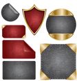 leather design elements vector image vector image