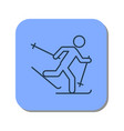 linear icon of the running skier vector image vector image