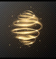 luxury light spiral with glitter and stars vector image
