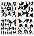 martial art mix vector image vector image