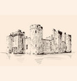 medieval castle in germany vector image