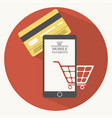 mobile payments in flat style vector image