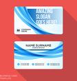 Modern Creative Business Card Template Flat Design vector image