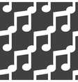 Music note web icon flat design Seamless pattern vector image vector image