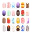 nail art design false fingernails manicure vector image vector image